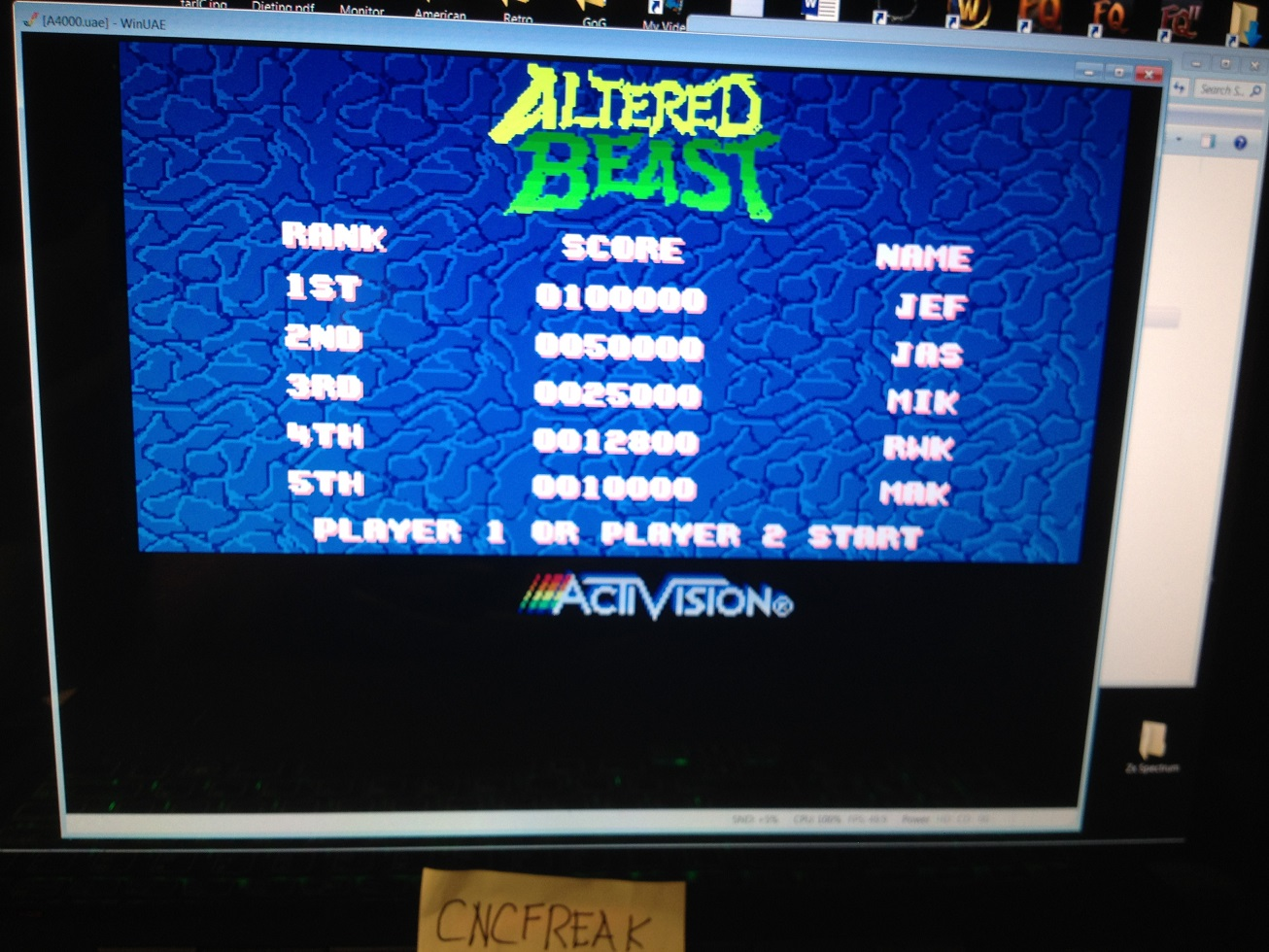 Altered Beast 12,800 points