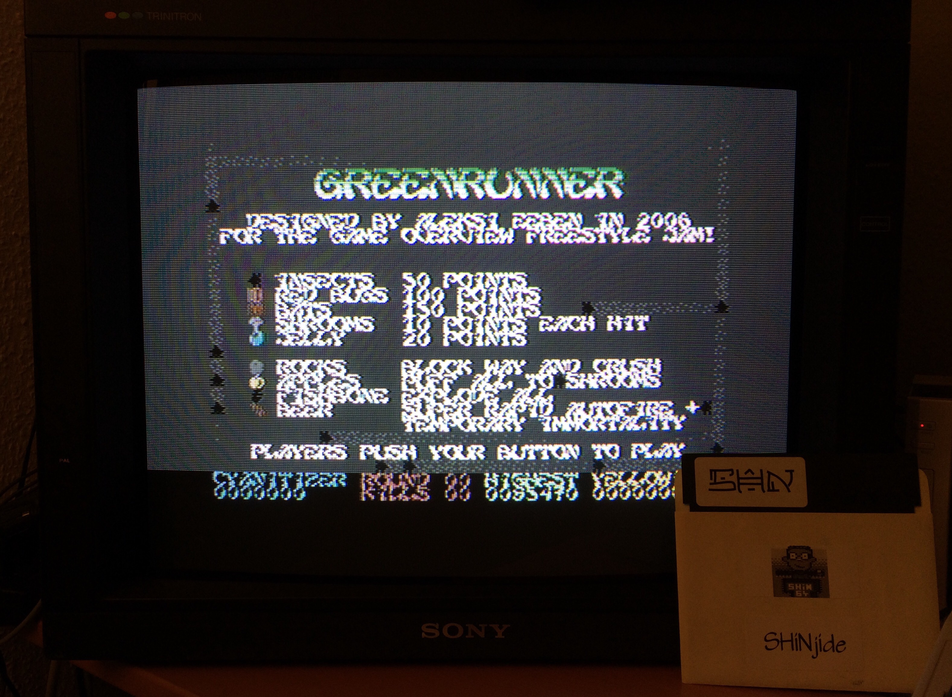 SHiNjide: Greenrunner (Commodore 64) 85,470 points on 2015-01-04 15:03:46