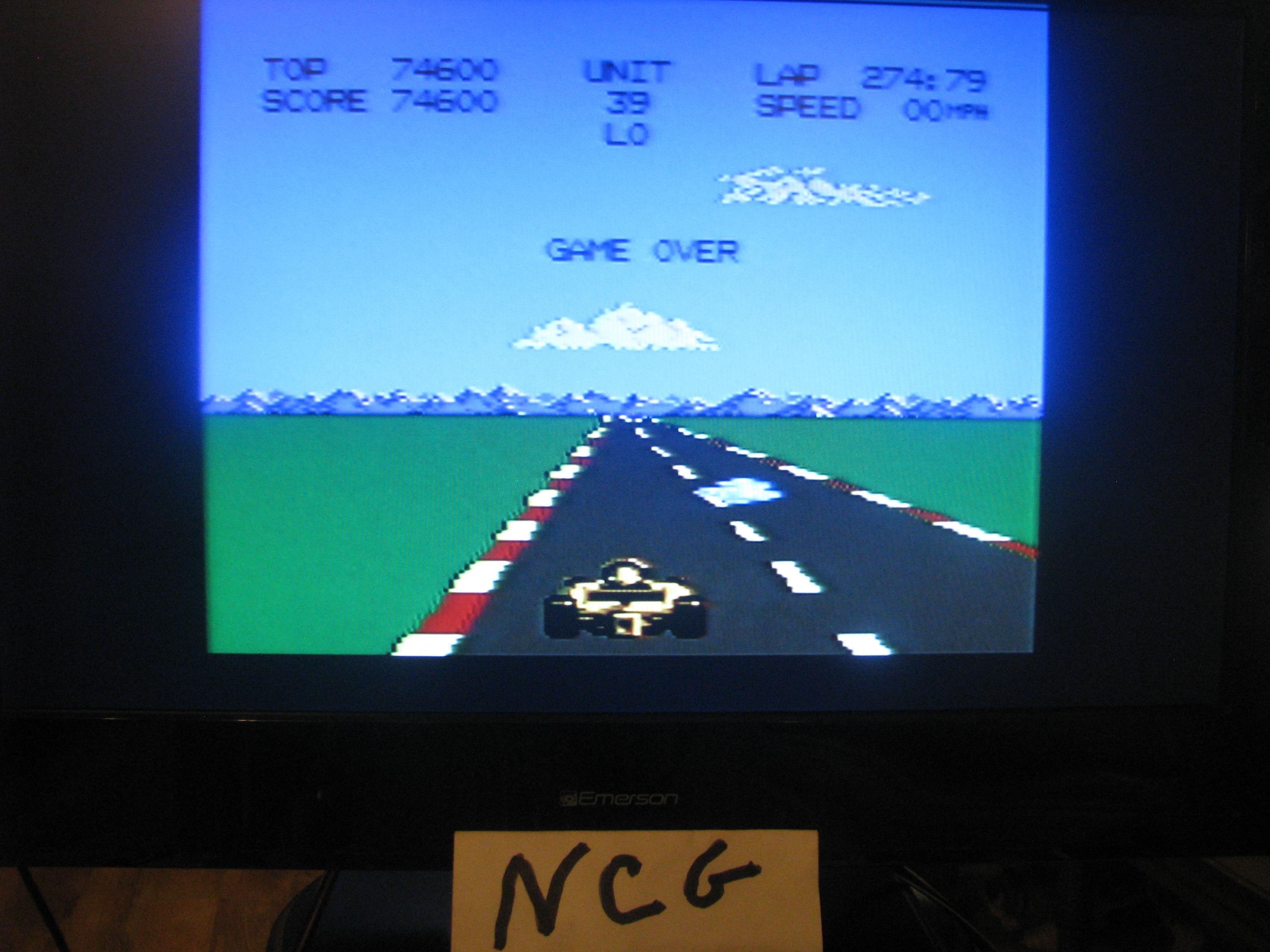 NorthCoastGamer: Pole Position 2: Fuji (Atari 7800) 74,600 points on 2015-01-04 17:35:23