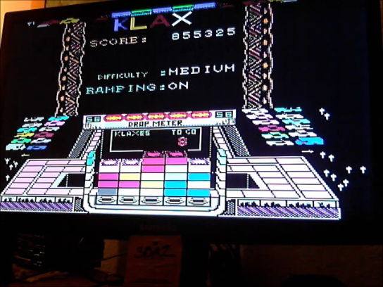 Klax [Level 11 Start]: On-Medium-On 855,325 points