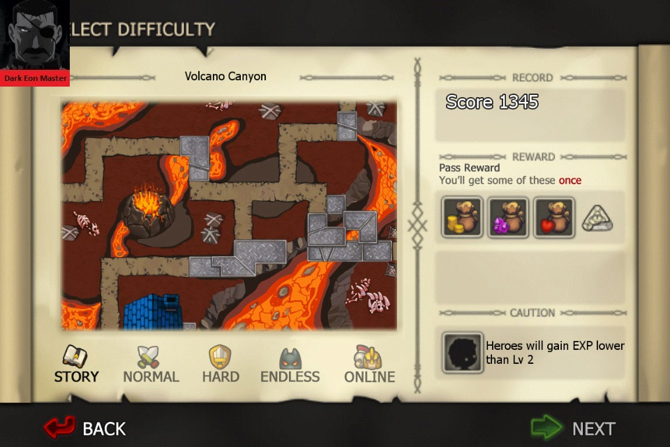 Element Defense: FIRE: Volcano Canyon [Story] 1,345 points
