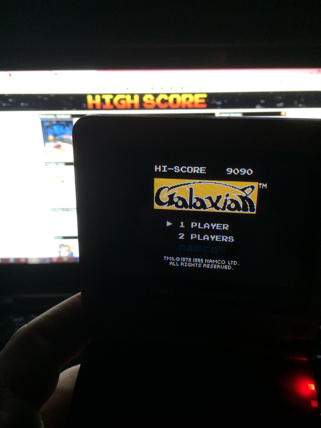 Serious: Galaxian (Game Boy) 9,090 points on 2015-01-07 11:17:45