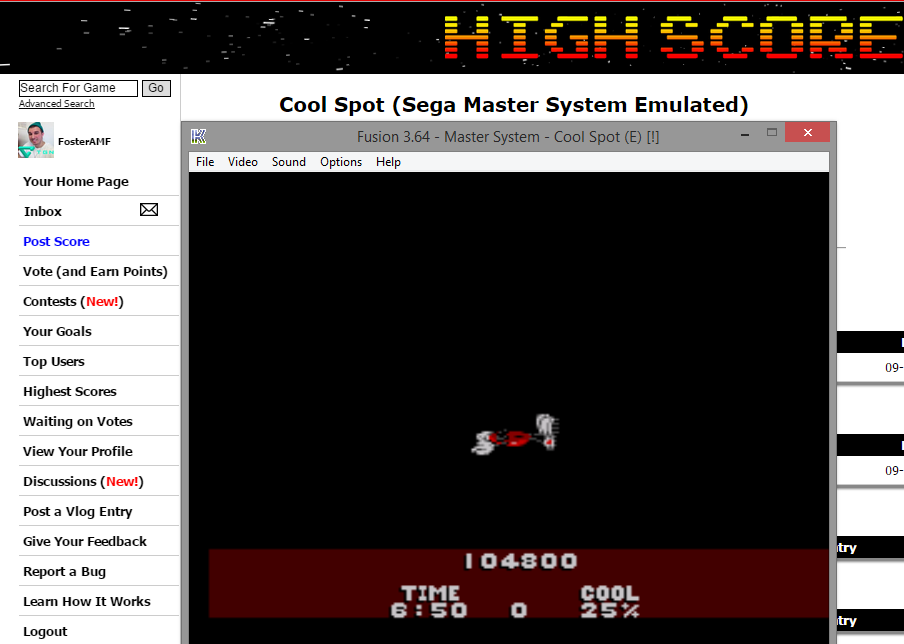 FosterAMF: Cool Spot (Sega Master System Emulated) 104,800 points on 2015-01-07 16:24:59