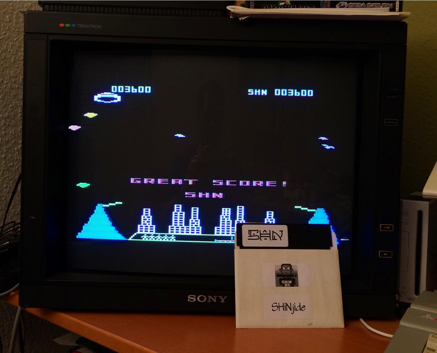 SHiNjide: Meteor Storm (Atari 400/800/XL/XE) 3,600 points on 2015-01-09 11:09:19