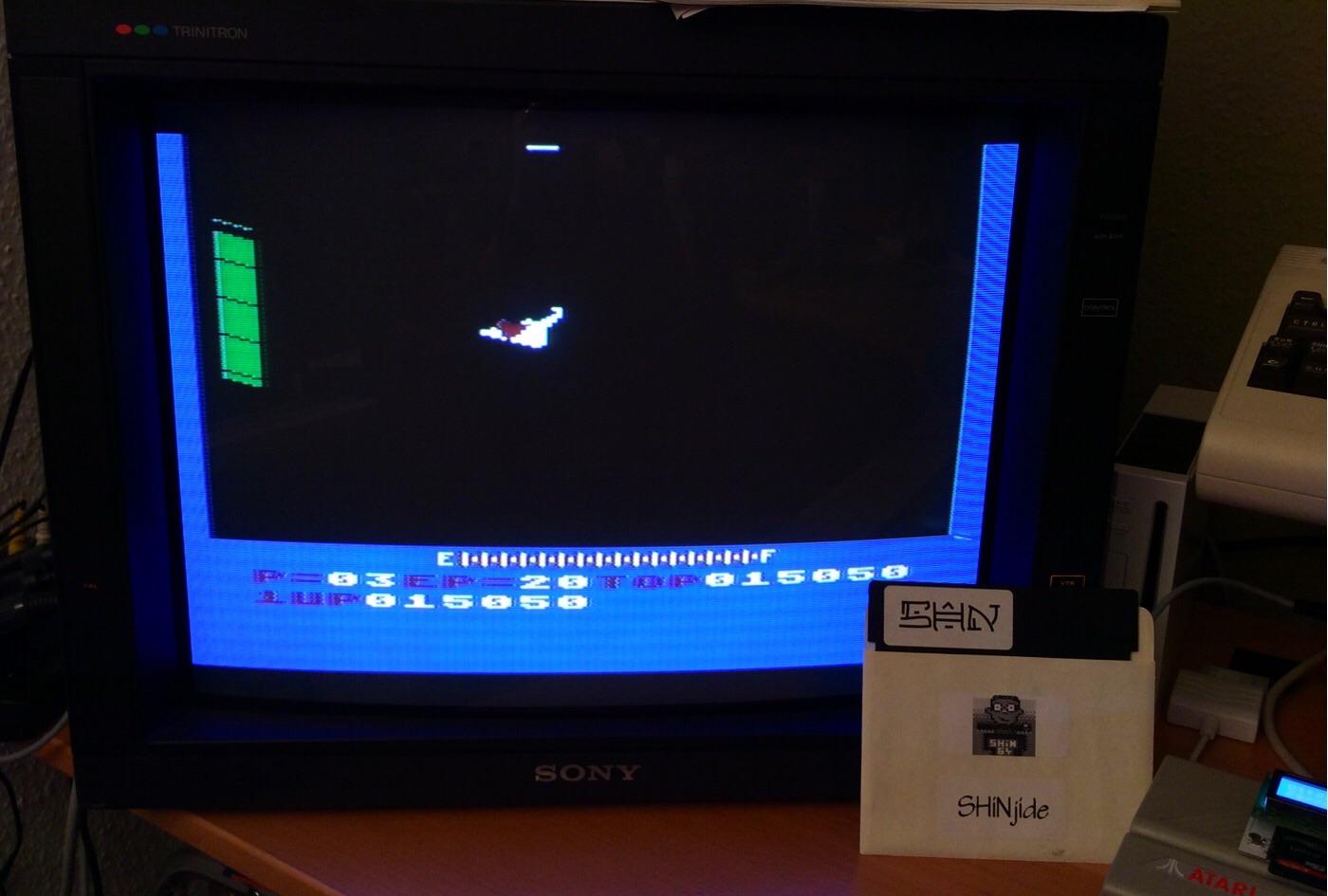 SHiNjide: Zaxxon (Atari 400/800/XL/XE) 15,050 points on 2015-01-10 10:17:56
