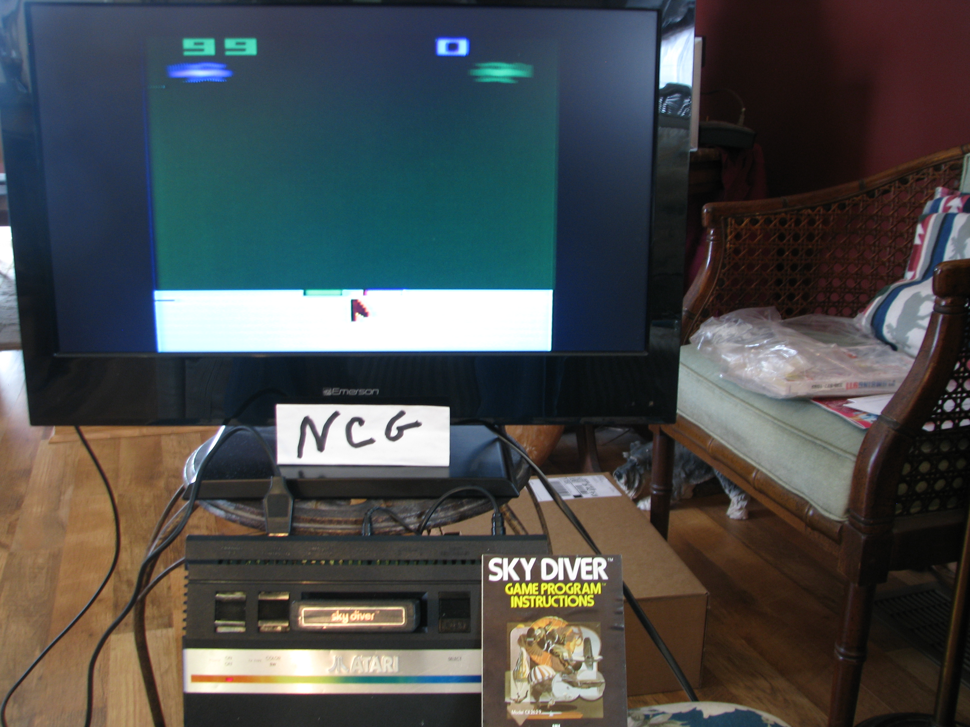 NorthCoastGamer: Sky Diver (Atari 2600 Novice/B) 99 points on 2015-01-10 15:03:47