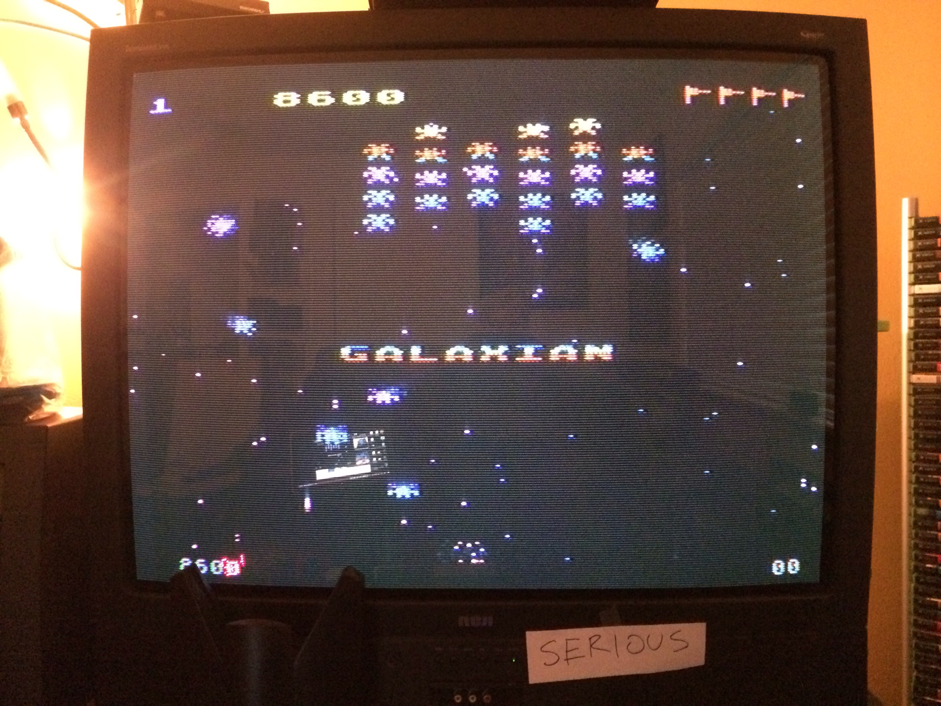 Galaxian: Skill Level 1 8,600 points