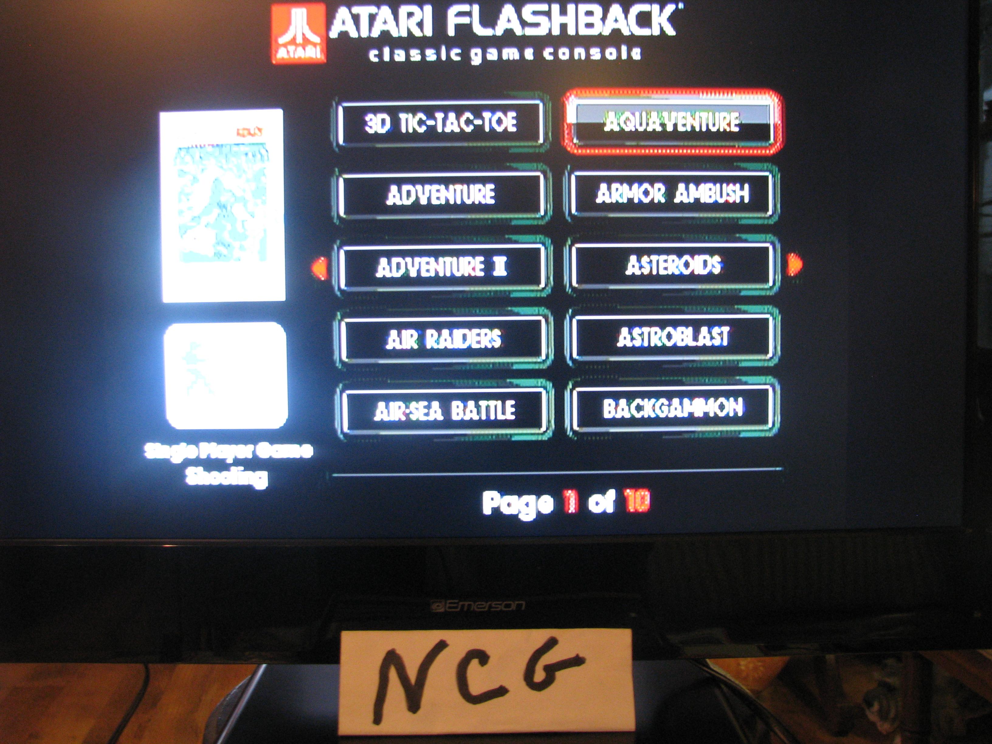 NorthCoastGamer: Aquaventure (Atari Flashback 5) 65,000 points on 2015-01-10 20:03:34