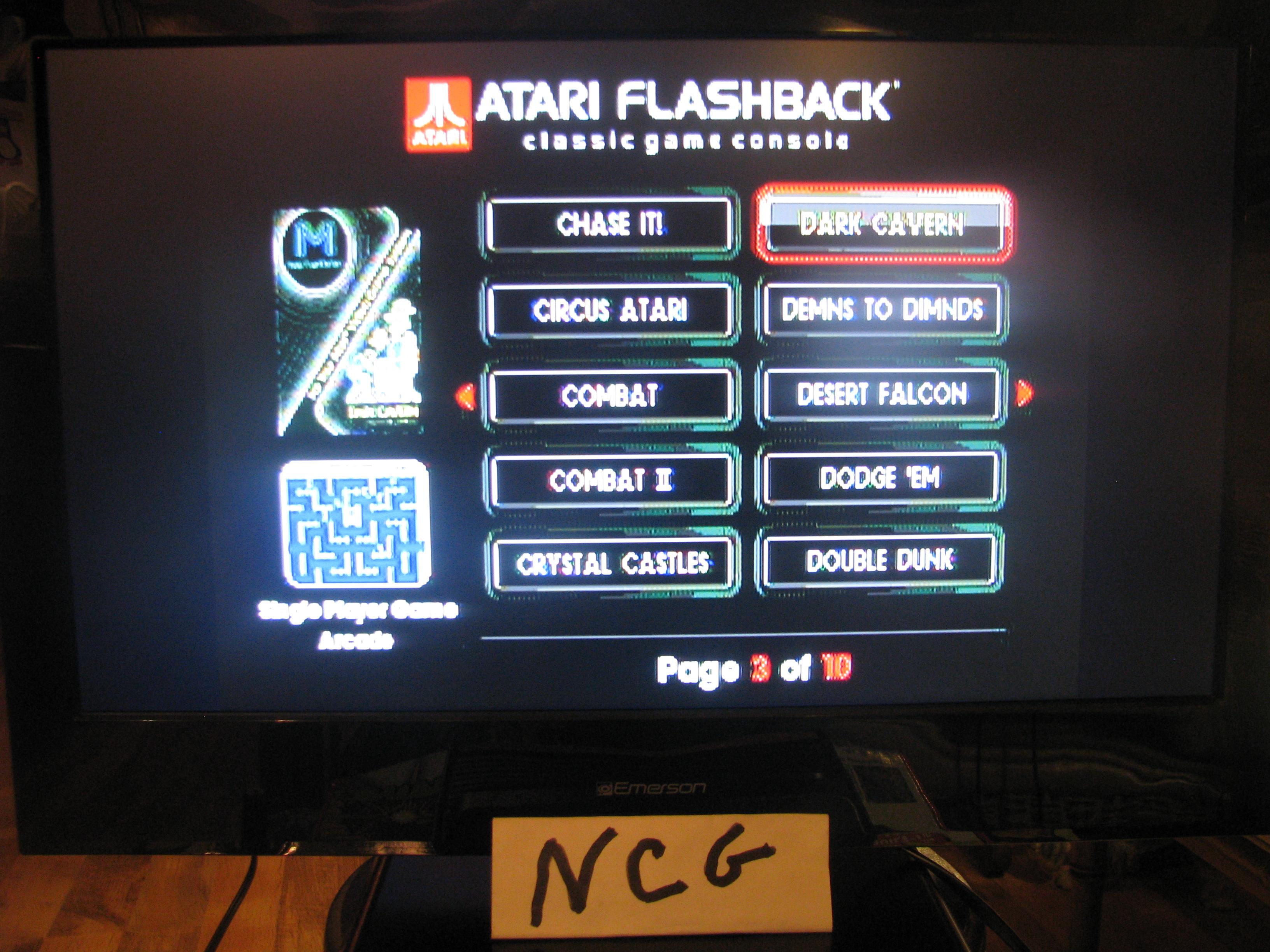 NorthCoastGamer: Dark Cavern (Atari Flashback 5) 222,000 points on 2015-01-10 20:07:34