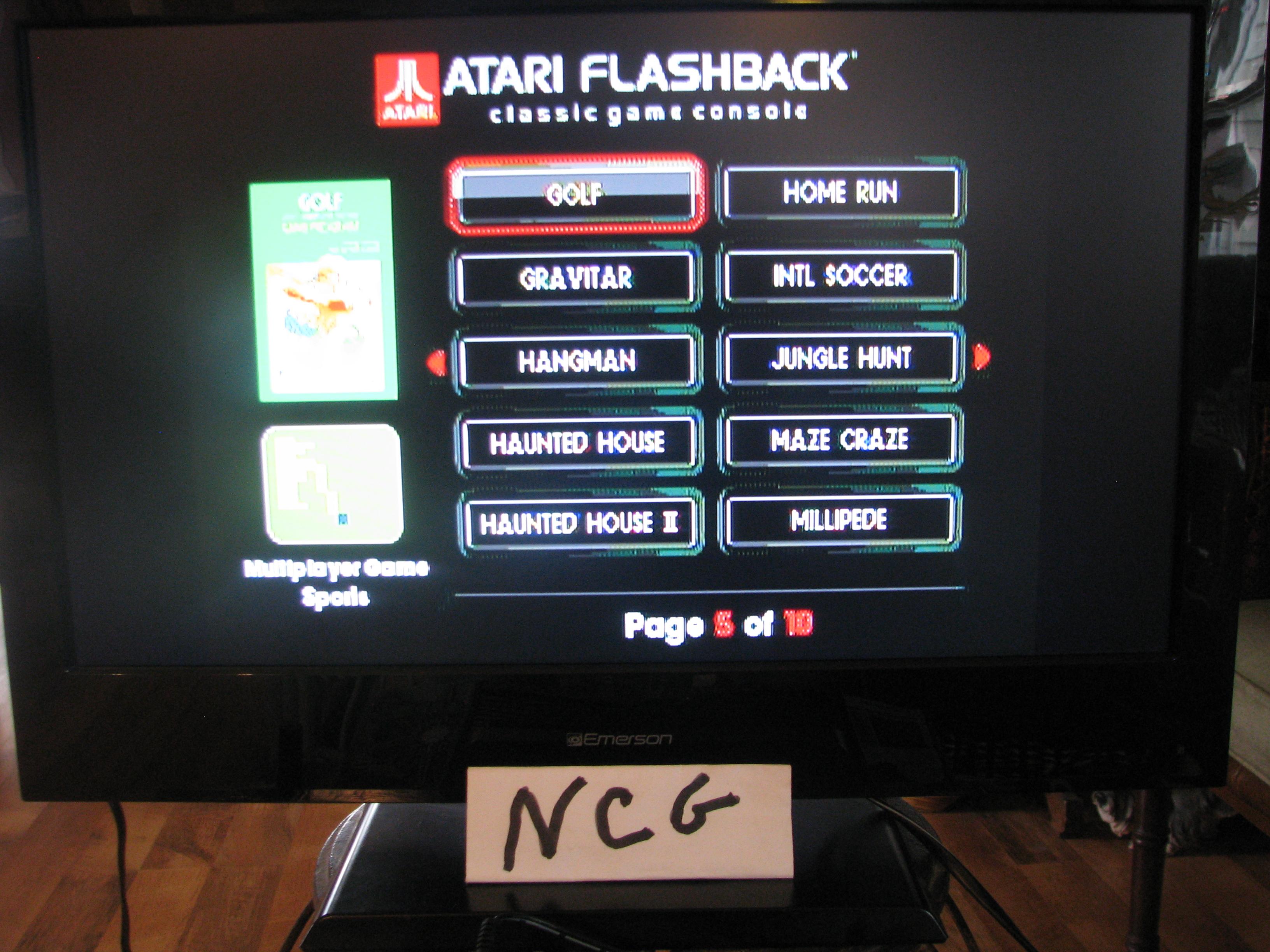 NorthCoastGamer: Golf: Game 1B (Atari Flashback 5) 32 points on 2015-01-10 20:15:31