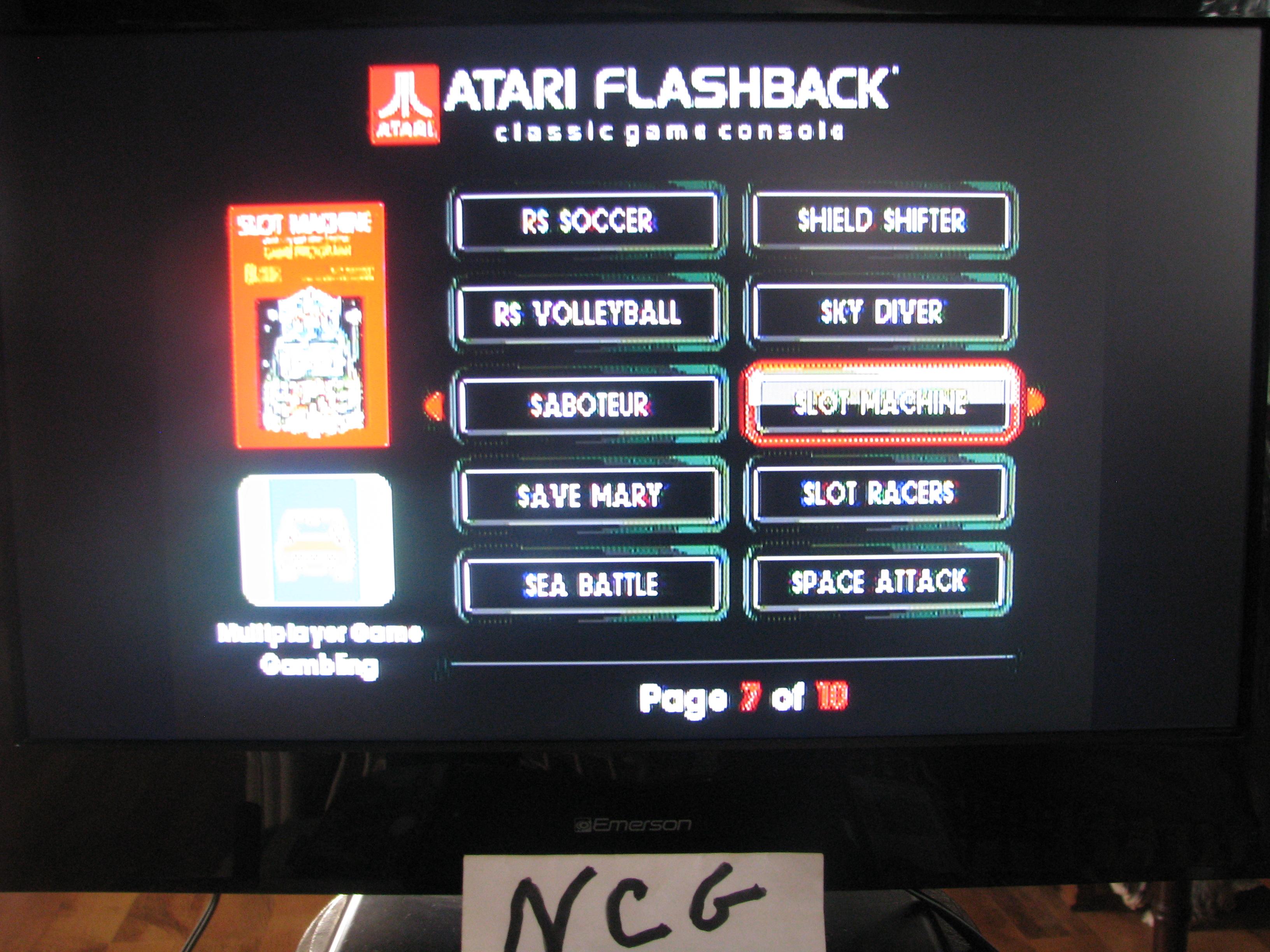 NorthCoastGamer: Slot Machine (Atari Flashback 5) 835 points on 2015-01-10 20:19:43