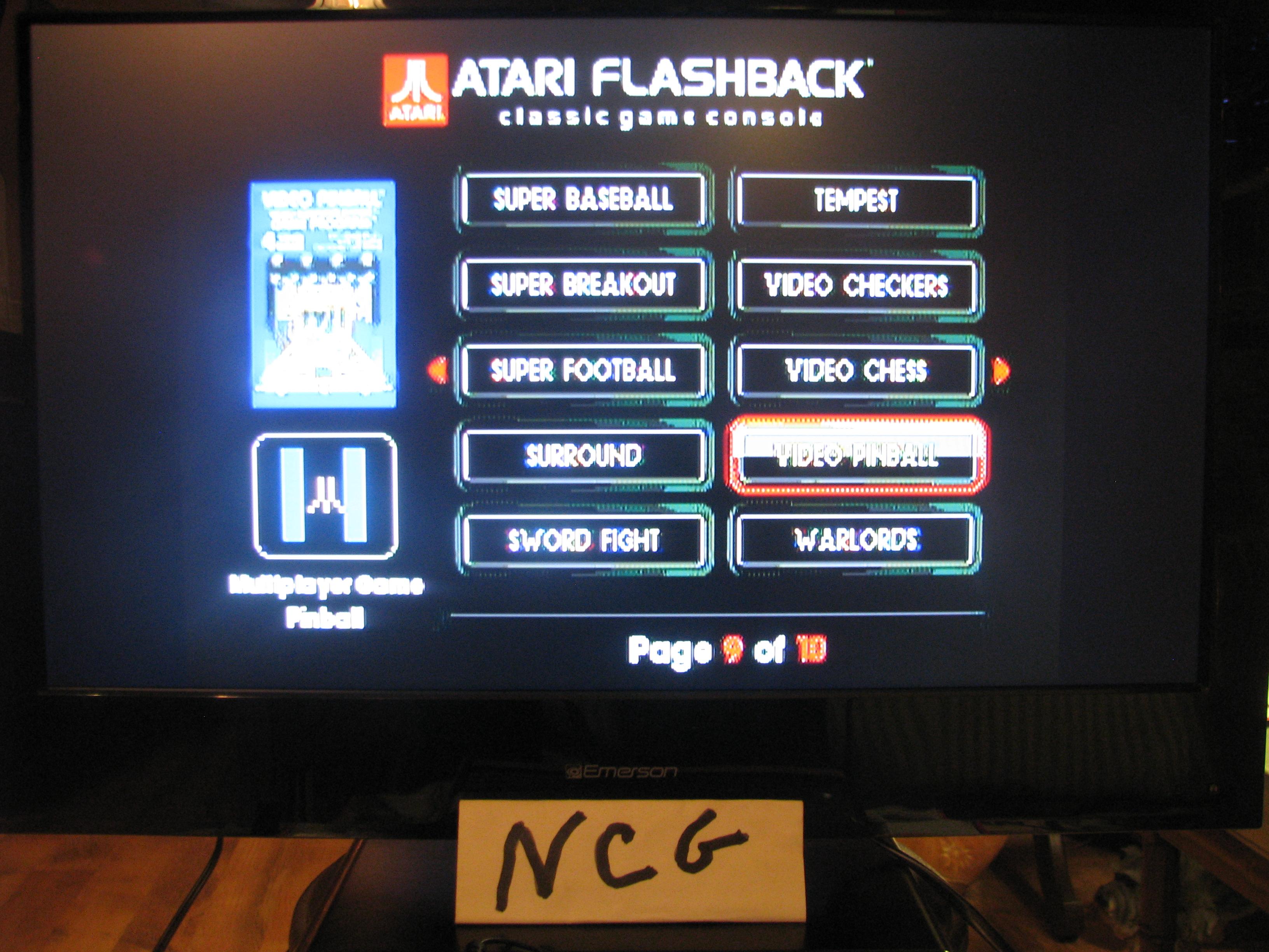 NorthCoastGamer: Video Pinball: Game 1B (Atari Flashback 5) 929,246 points on 2015-01-10 20:34:15