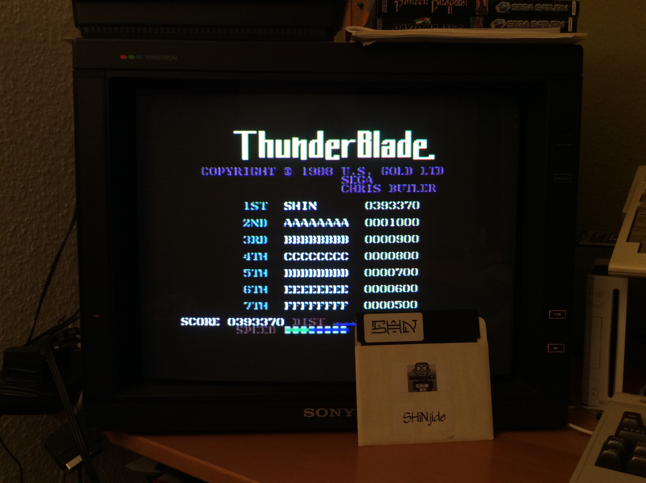 SHiNjide: Thunder Blade (Commodore 64) 393,370 points on 2015-01-11 04:21:05