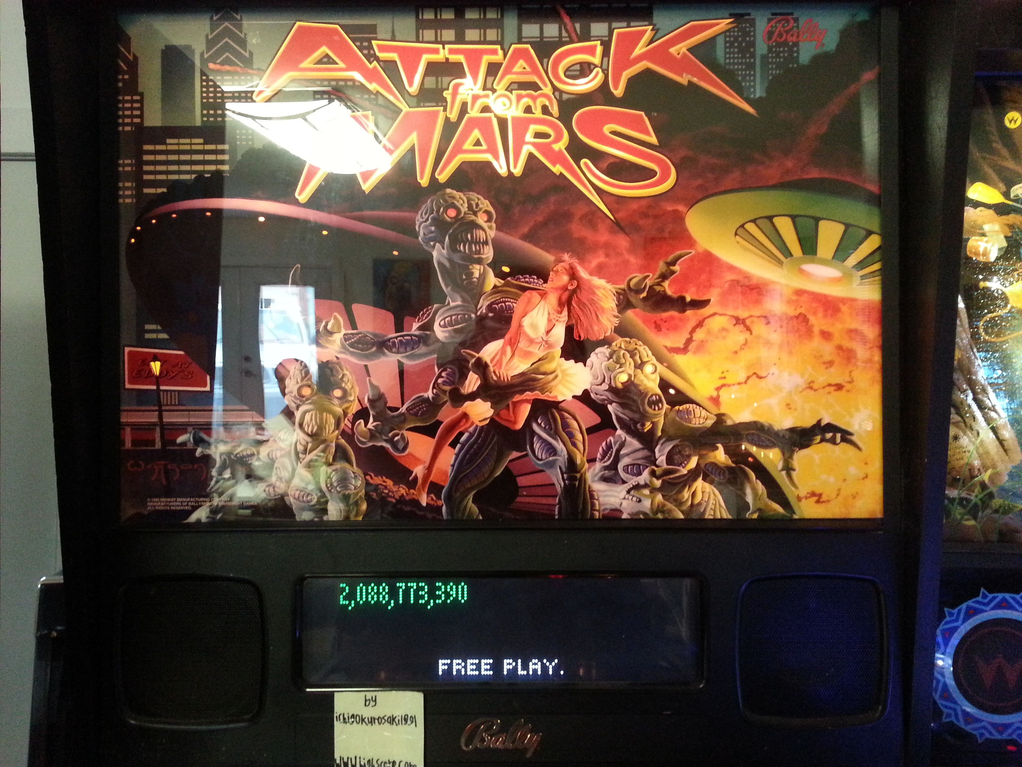 Attack From Mars 2,088,773,390 points