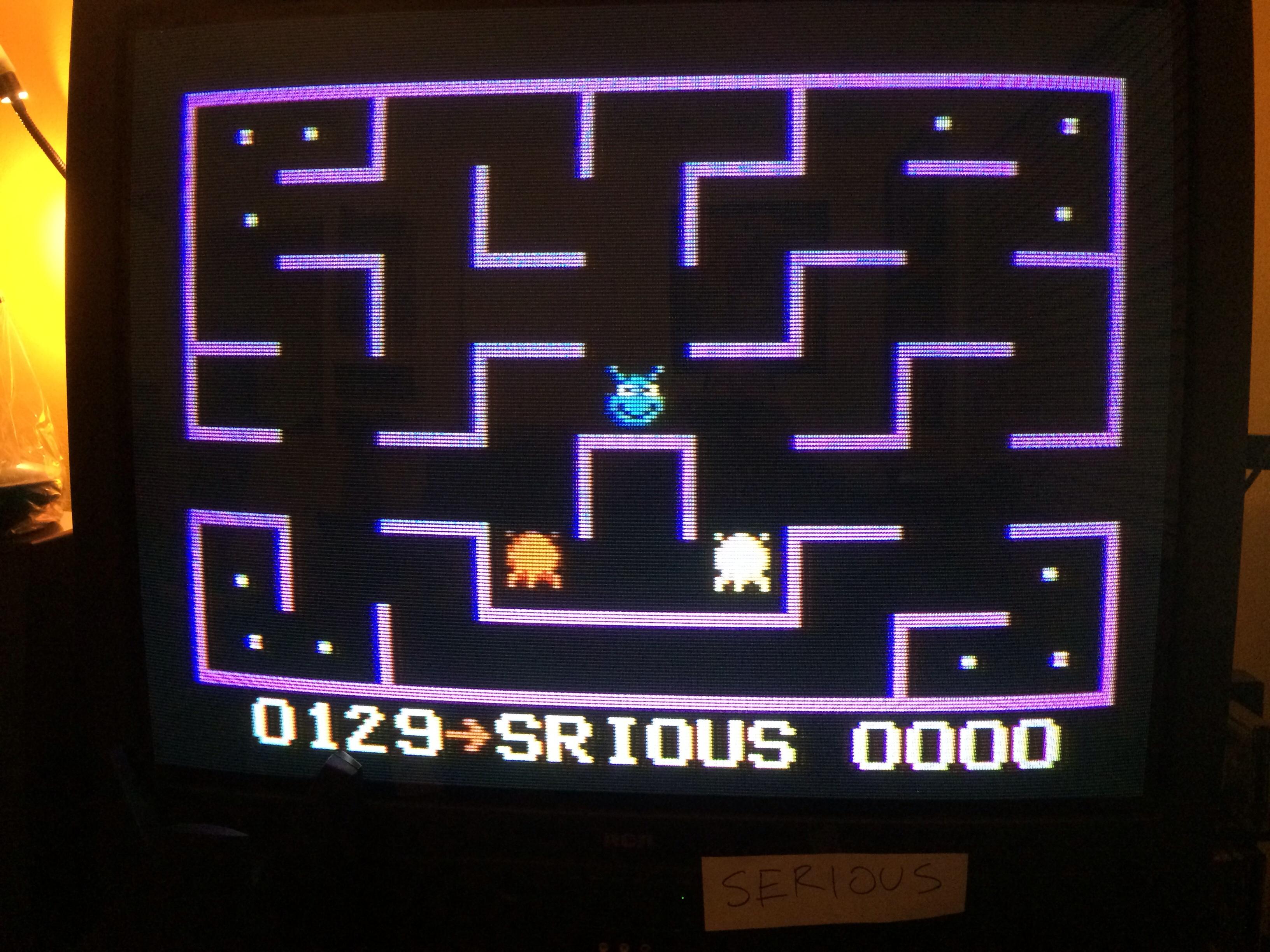 Serious: K.C. Munchkin: Maze 1 (Atari 7800) 129 points on 2015-01-11 20:39:04