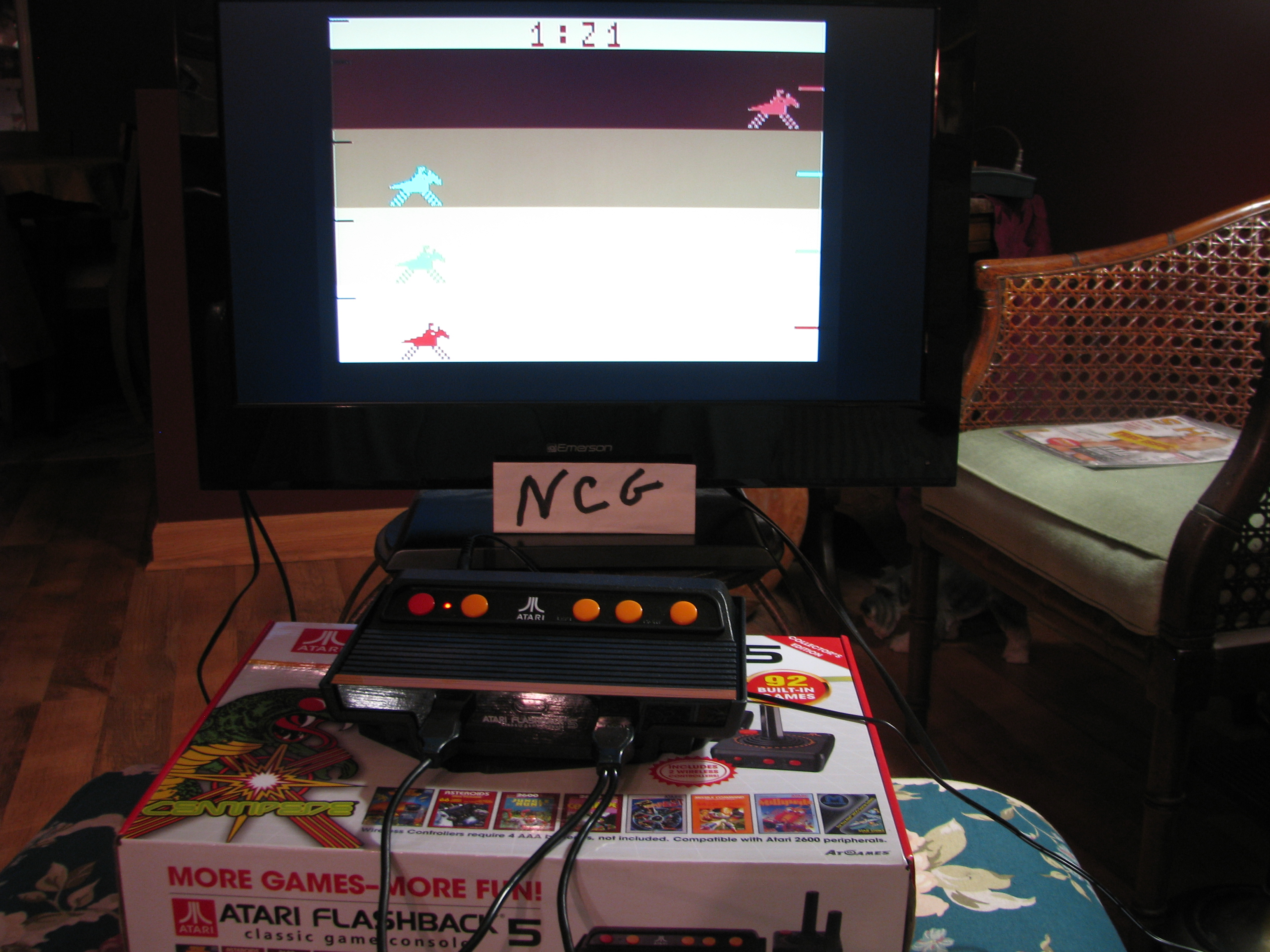 NorthCoastGamer: Steeplechase (Atari Flashback 5) 0:01:21 points on 2015-01-12 10:04:07