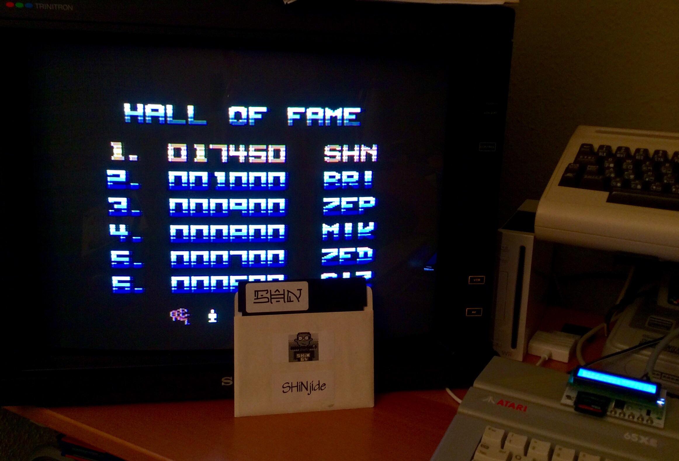 SHiNjide: Zybex (Atari 400/800/XL/XE) 17,450 points on 2015-01-12 12:50:17