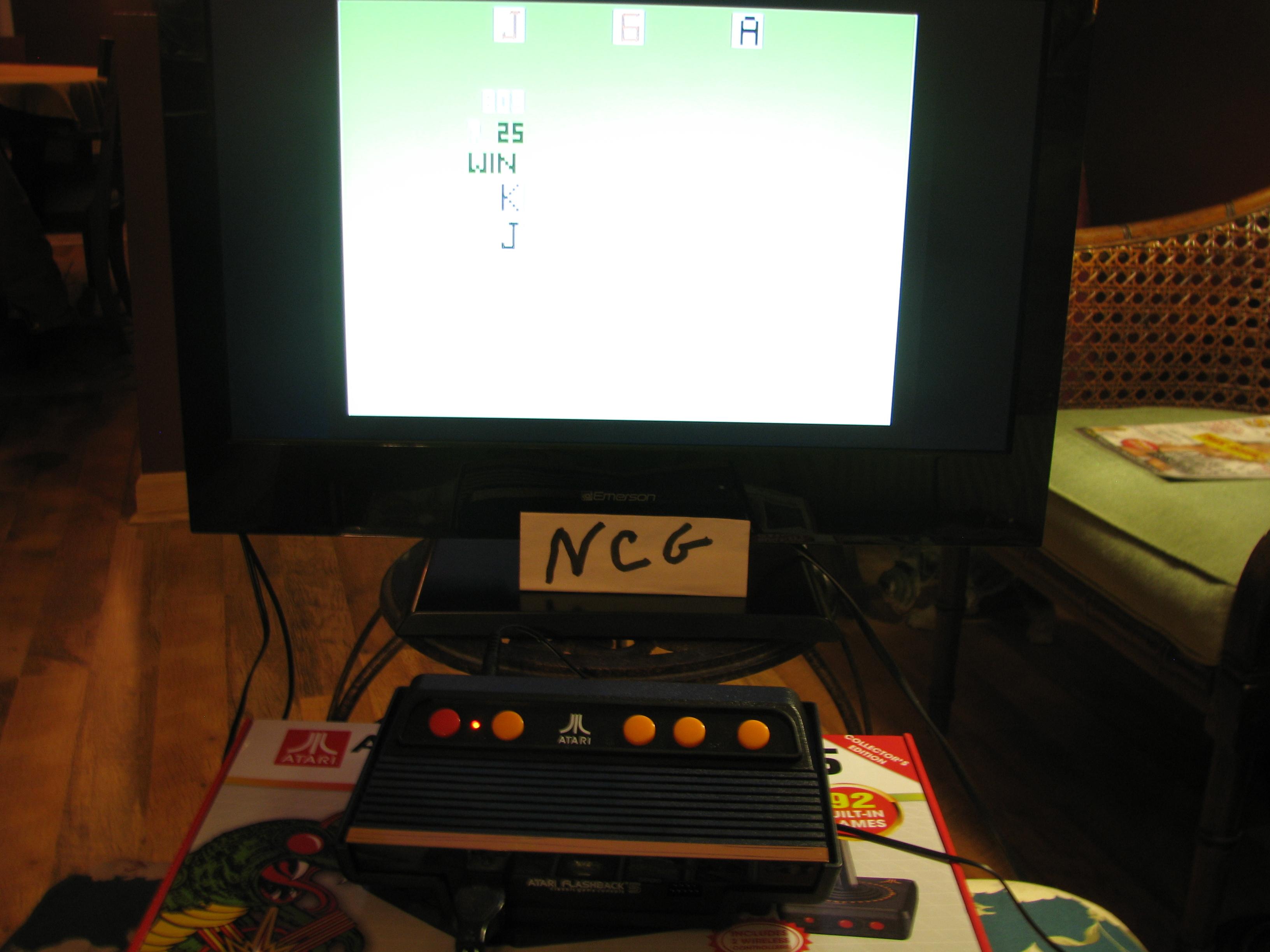 NorthCoastGamer: Blackjack (Atari Flashback 5) 809 points on 2015-01-12 20:55:28