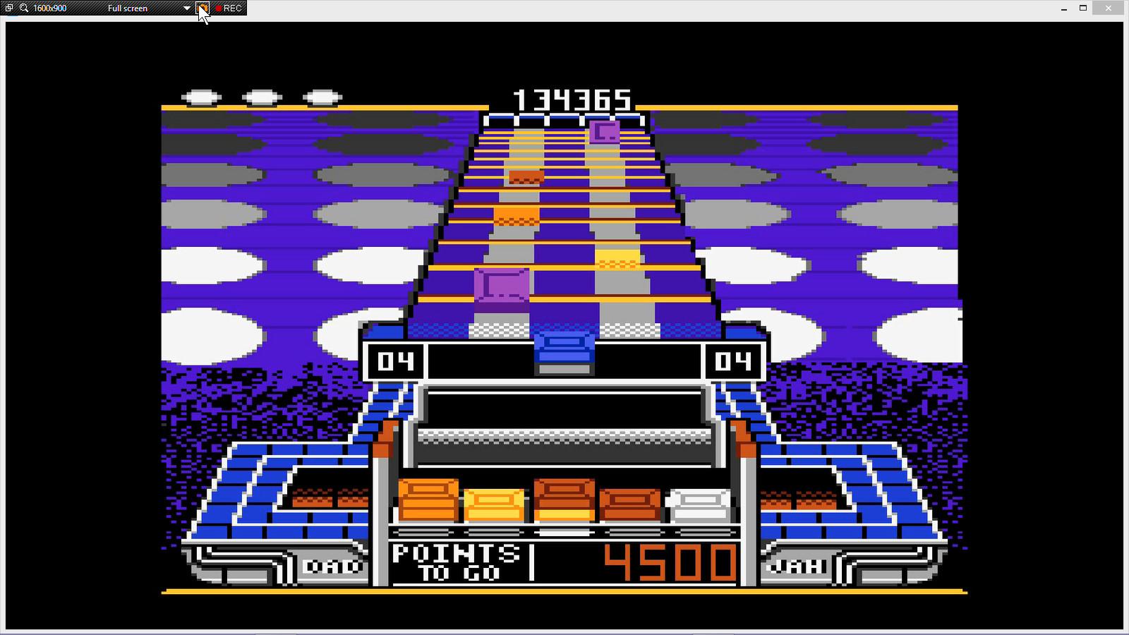 Klax: Normal [Level 01 Start] 134,365 points