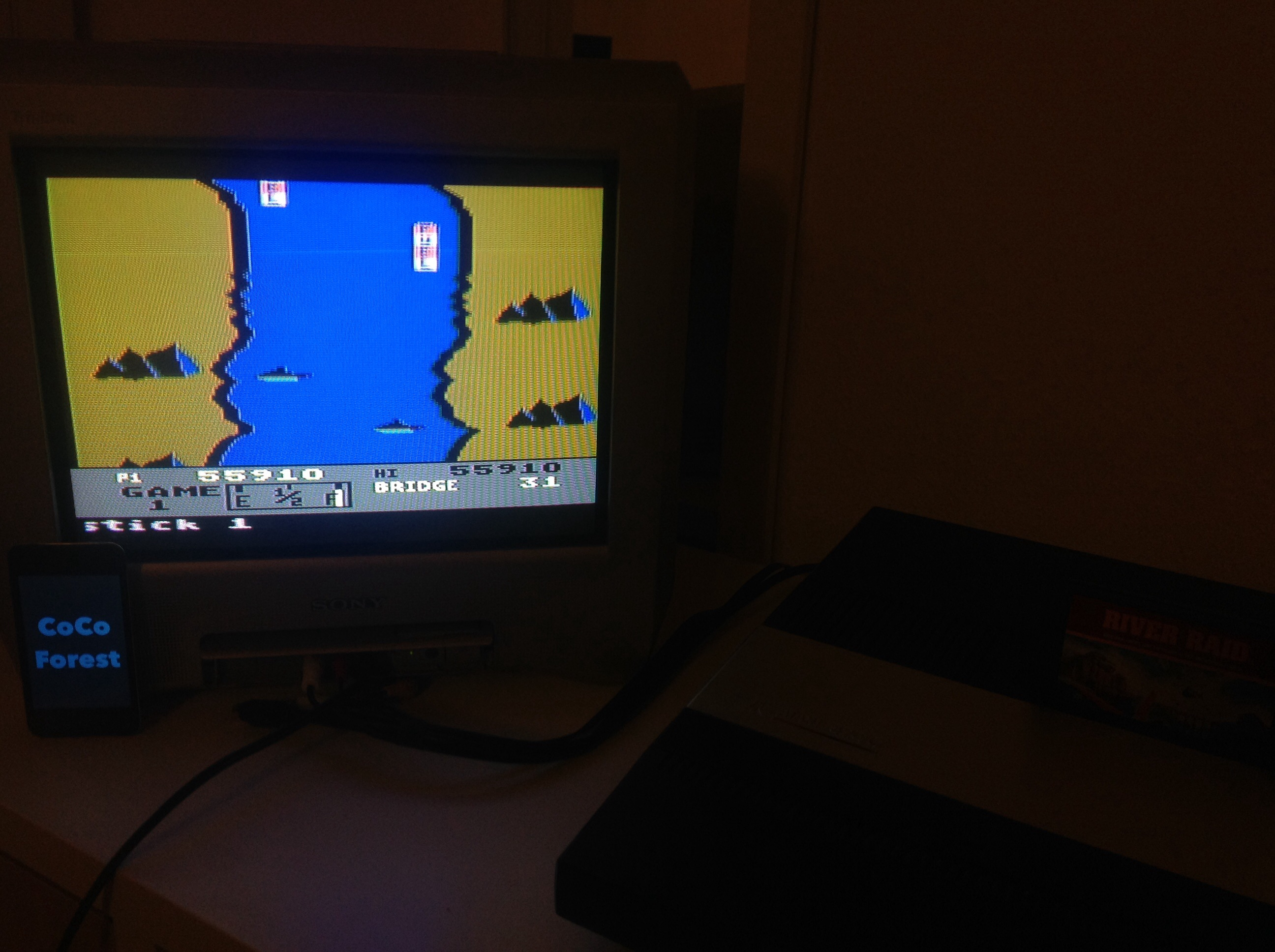 CoCoForest: River Raid: Game 1 (Atari 5200) 55,910 points on 2015-01-13 10:56:48