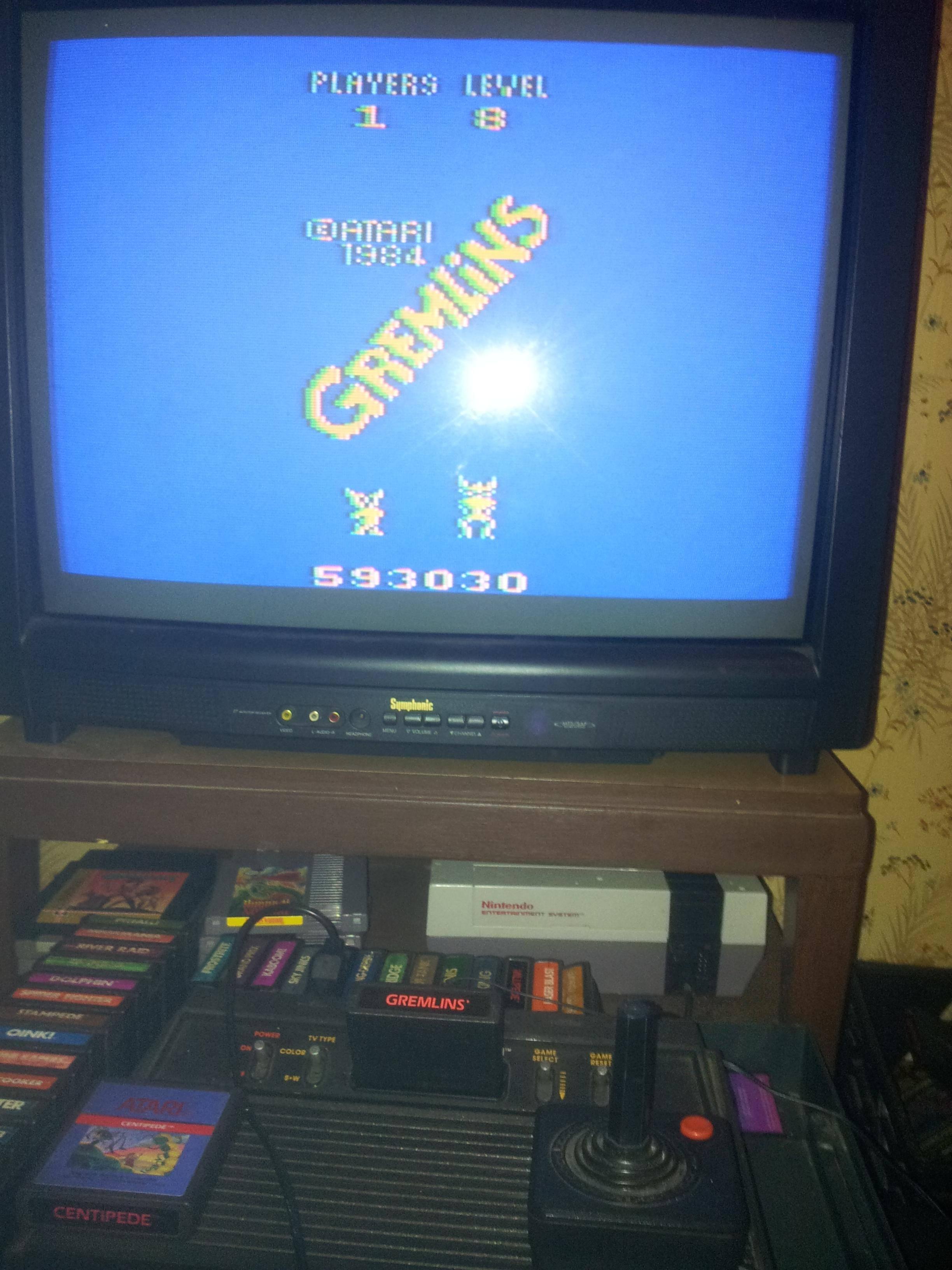 Gremlins 593,030 points