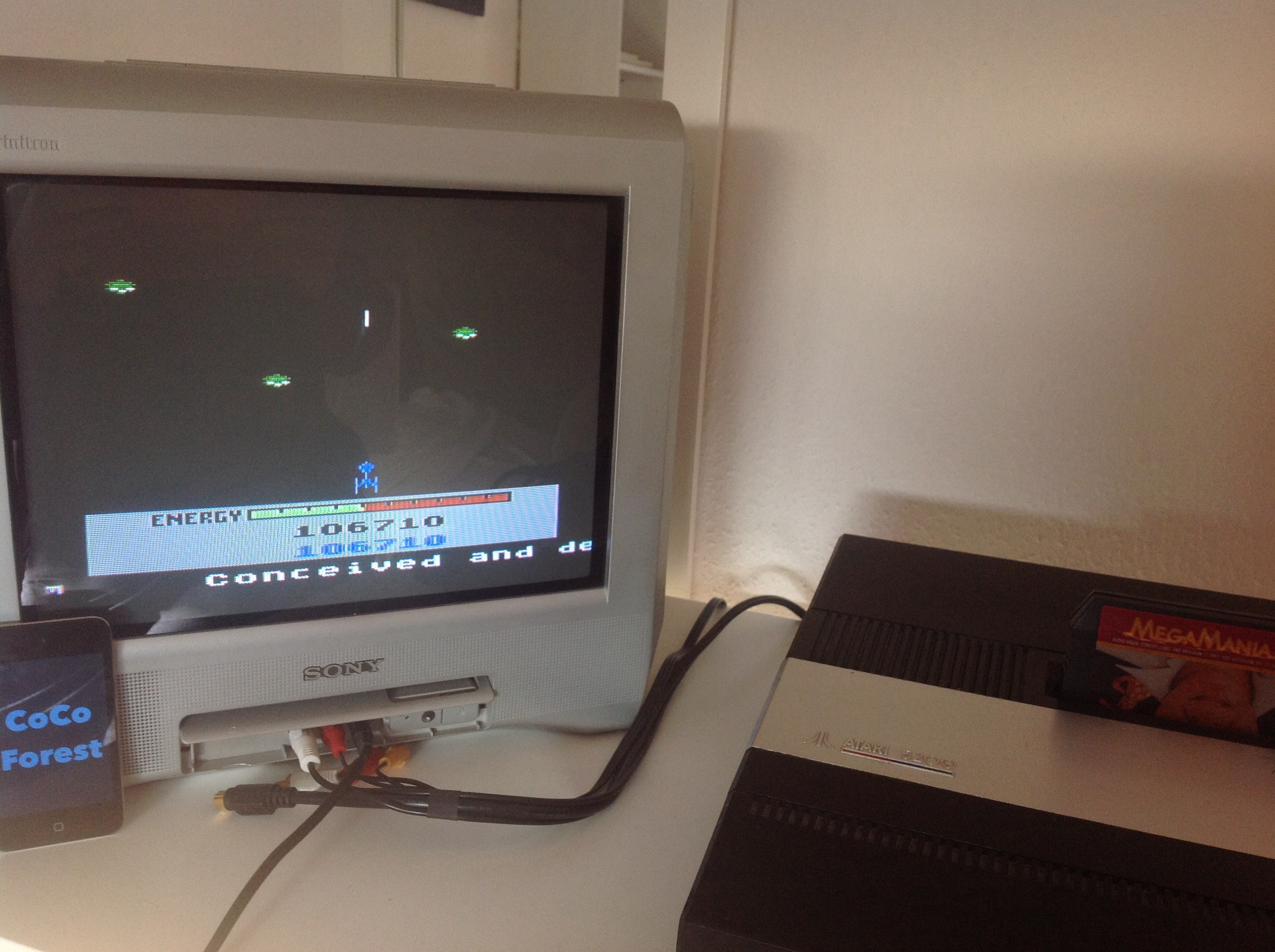 CoCoForest: Megamania [Guided Missiles] (Atari 5200) 106,710 points on 2015-01-15 08:11:22