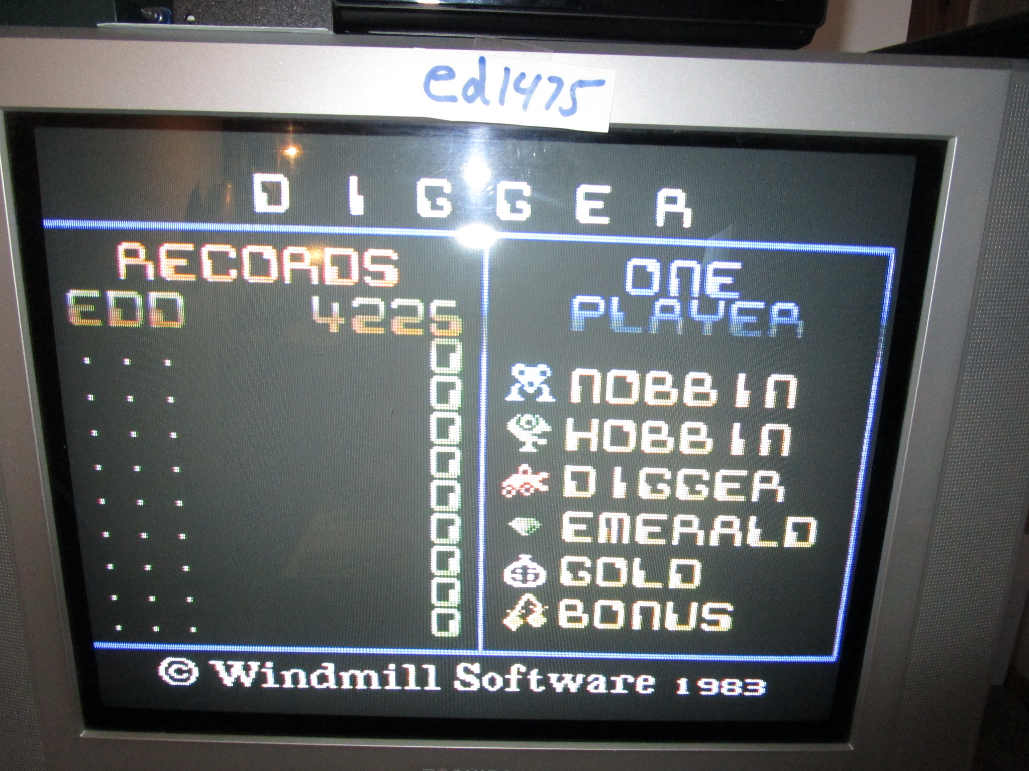 ed1475: Digger (Colecovision) 4,225 points on 2015-01-16 13:06:18
