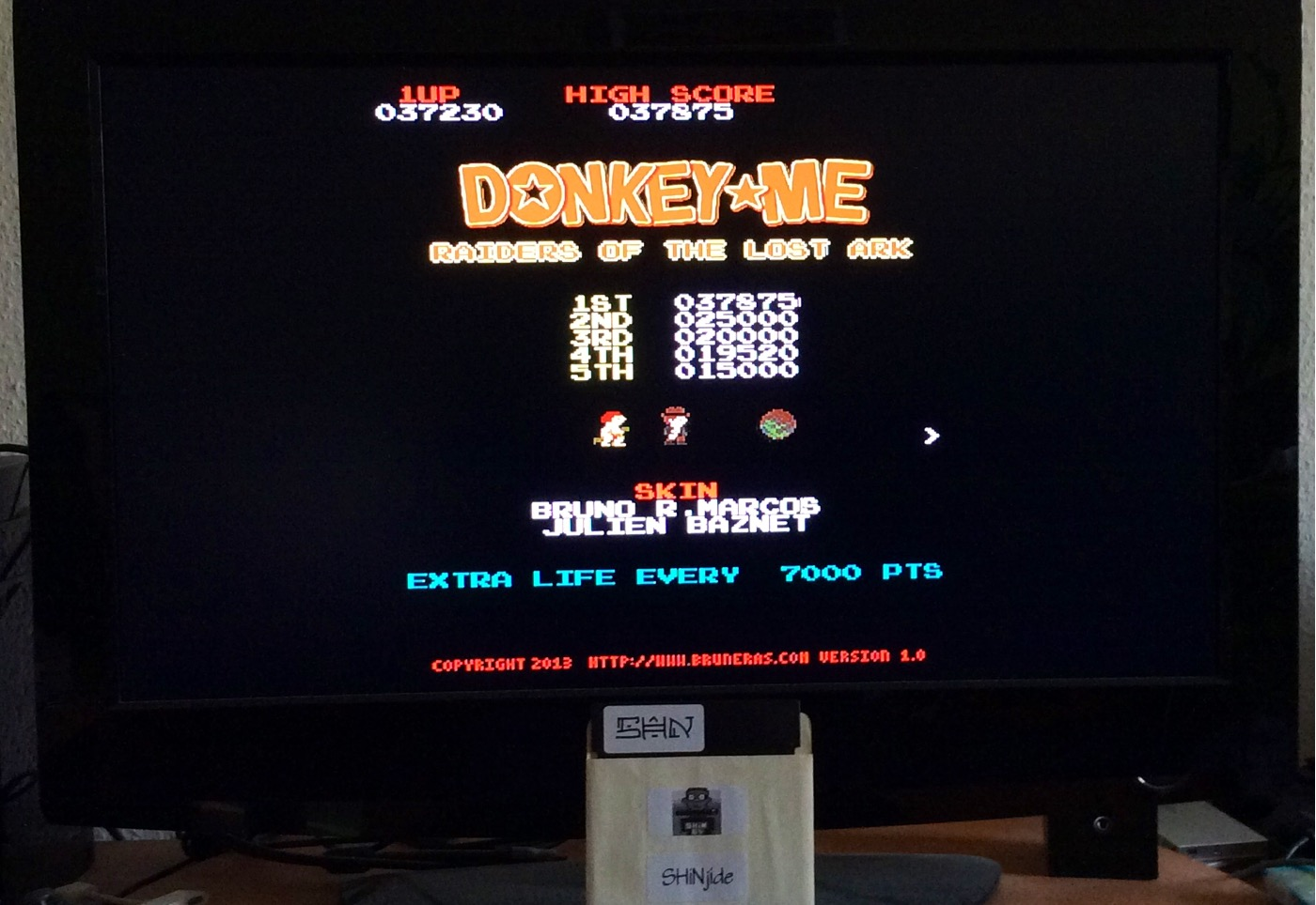 SHiNjide: Donkey Me: Raiders of The Lost Ark (Ouya) 37,875 points on 2015-01-16 16:52:39