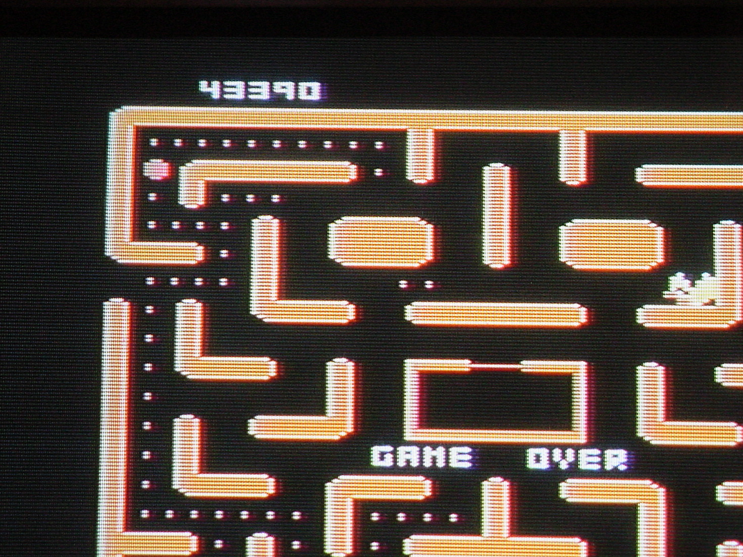 Ms. Pac-Man 43,390 points