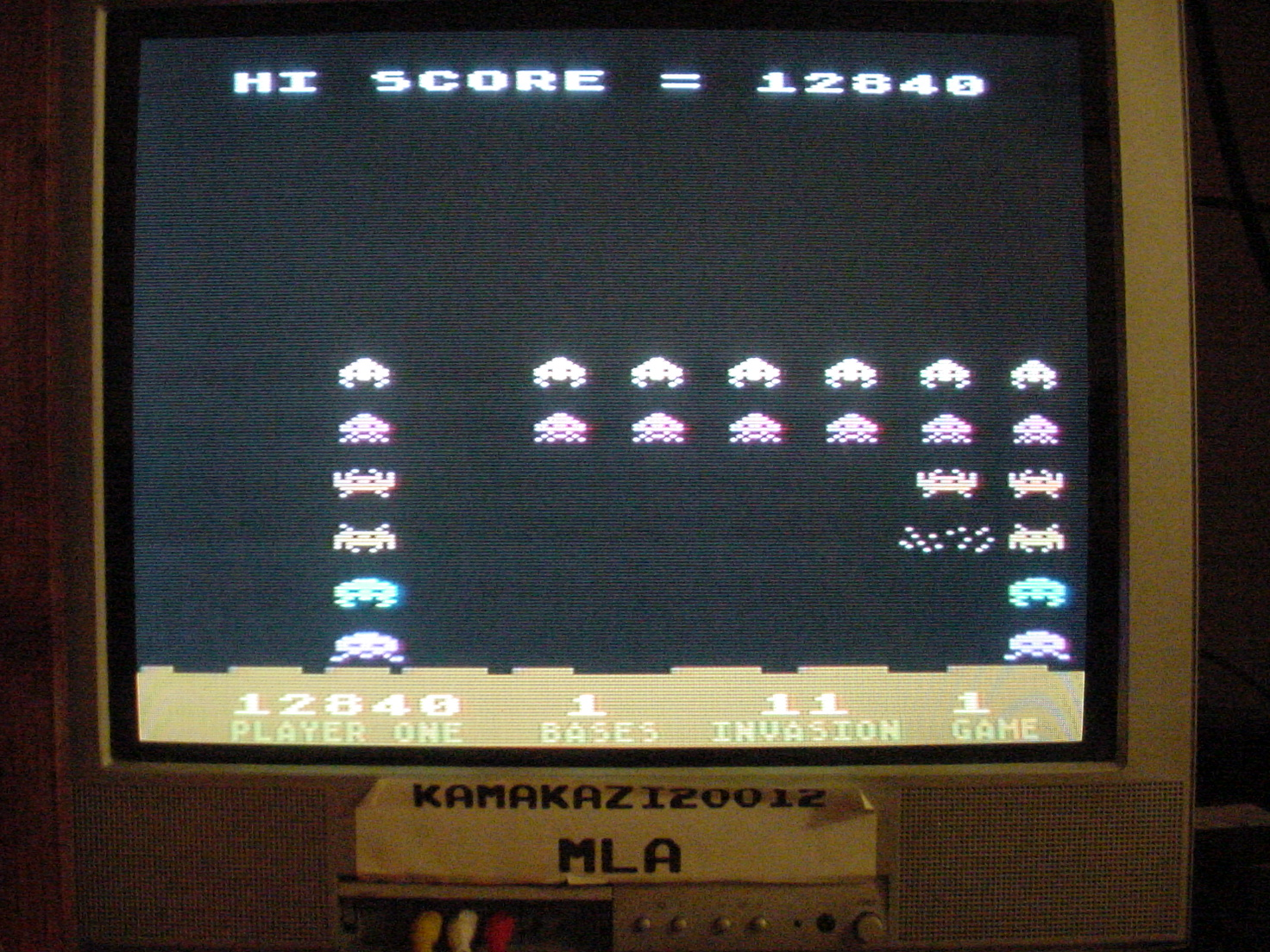 Atari Invaders 12,840 points