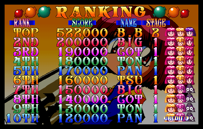 BarryBloso: Cotton Boomerang [cottonbm] (Arcade Emulated / M.A.M.E.) 522,000 points on 2015-01-17 05:31:11