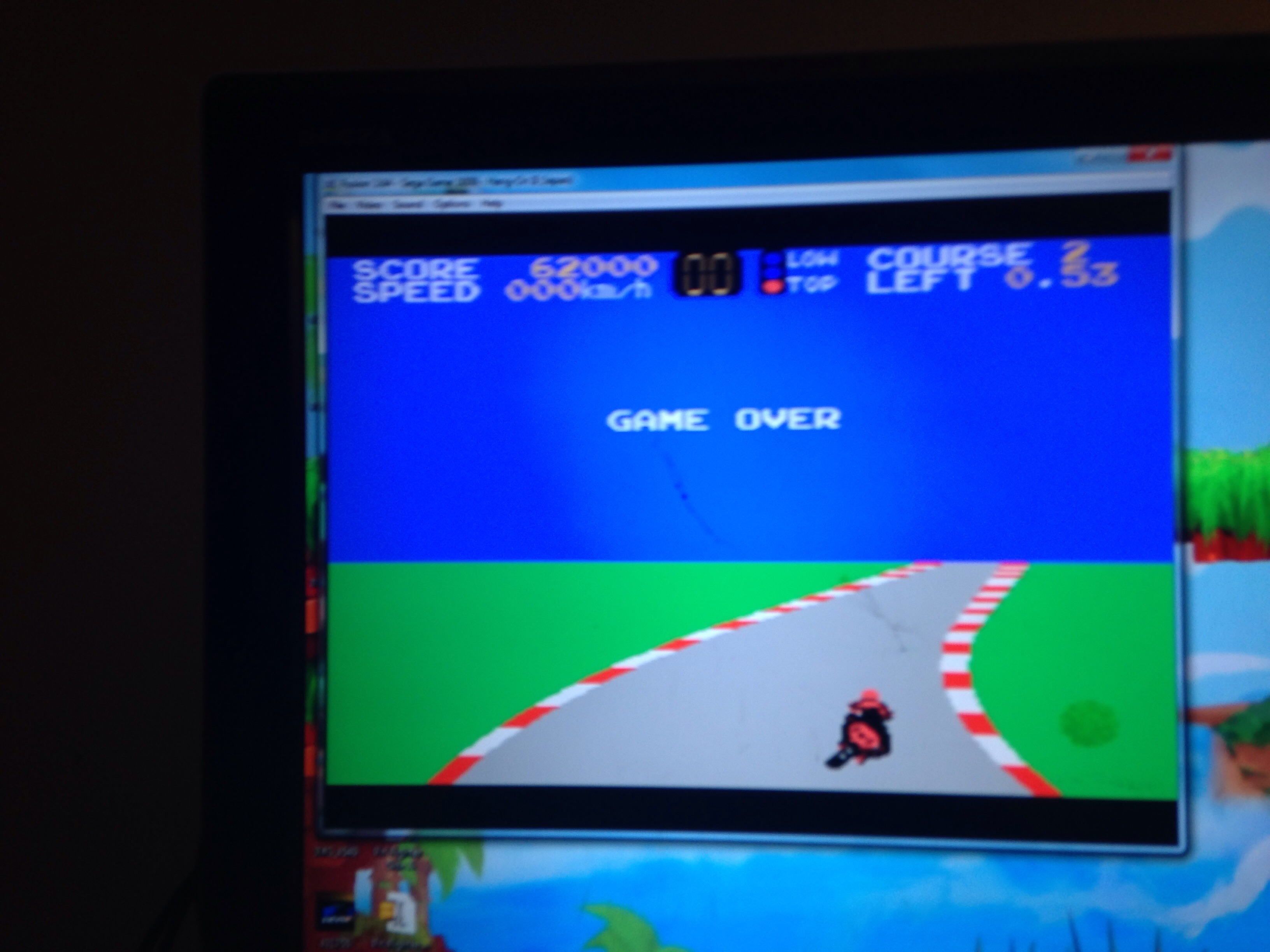 mechafatnick: Hang On II [Level 1] (Sega SG-1000 Emulated) 62,000 points on 2015-01-17 08:21:47