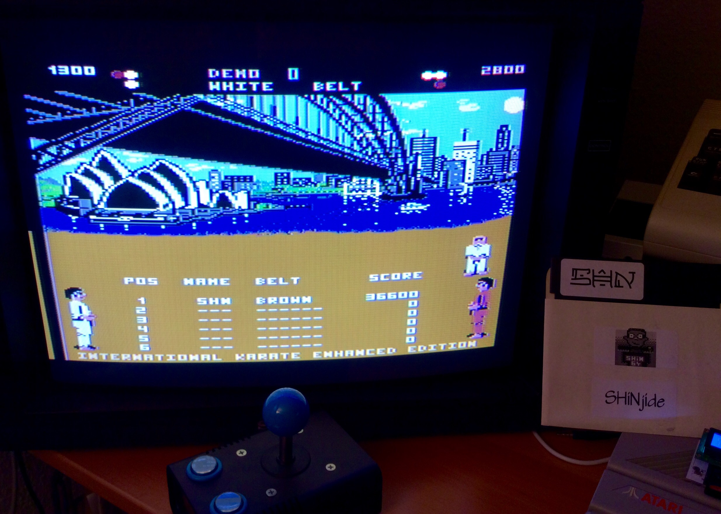 SHiNjide: International Karate Enhanced Edition (Atari 400/800/XL/XE) 36,600 points on 2015-01-17 09:18:46