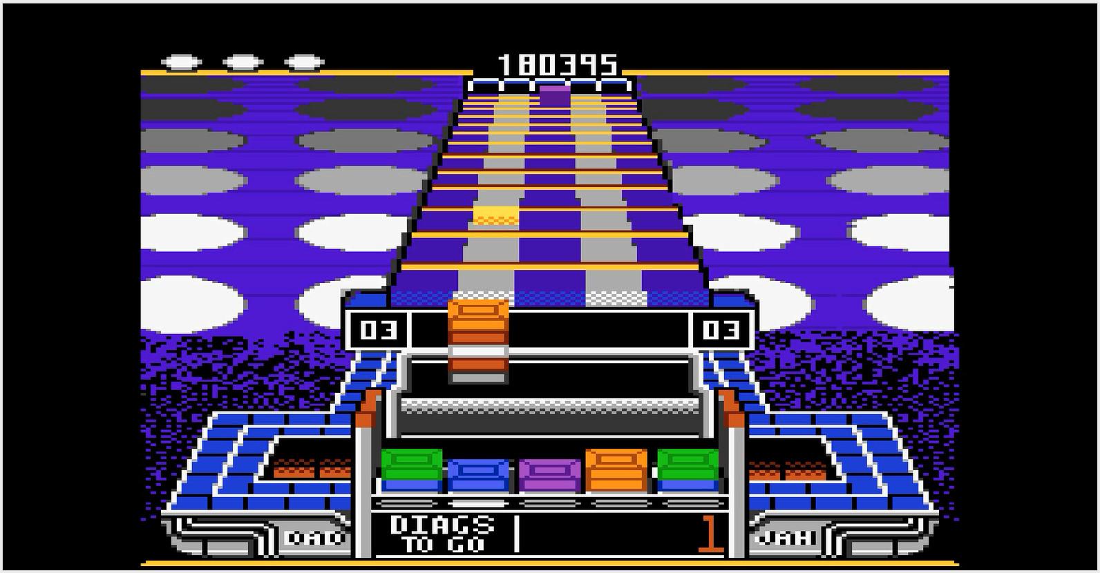 Klax: Hard [Level 01 Start] 180,395 points