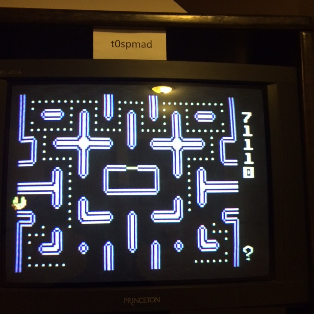 Ms. Pac-Man 71,110 points