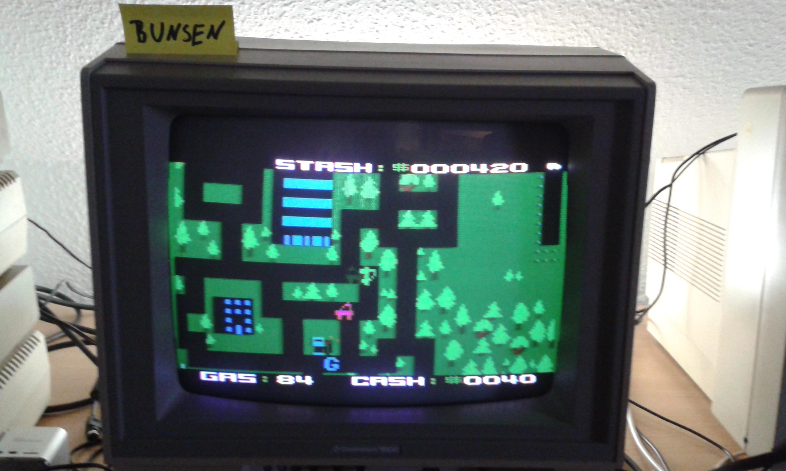 Bunsen: Getaway! (Atari 400/800/XL/XE) 420 points on 2015-01-17 14:17:25
