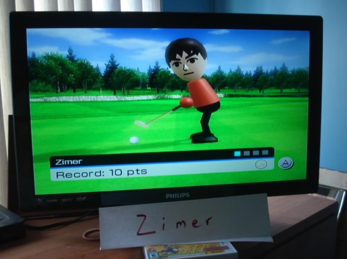 Wii Sports: Golf [Putting] 10 points