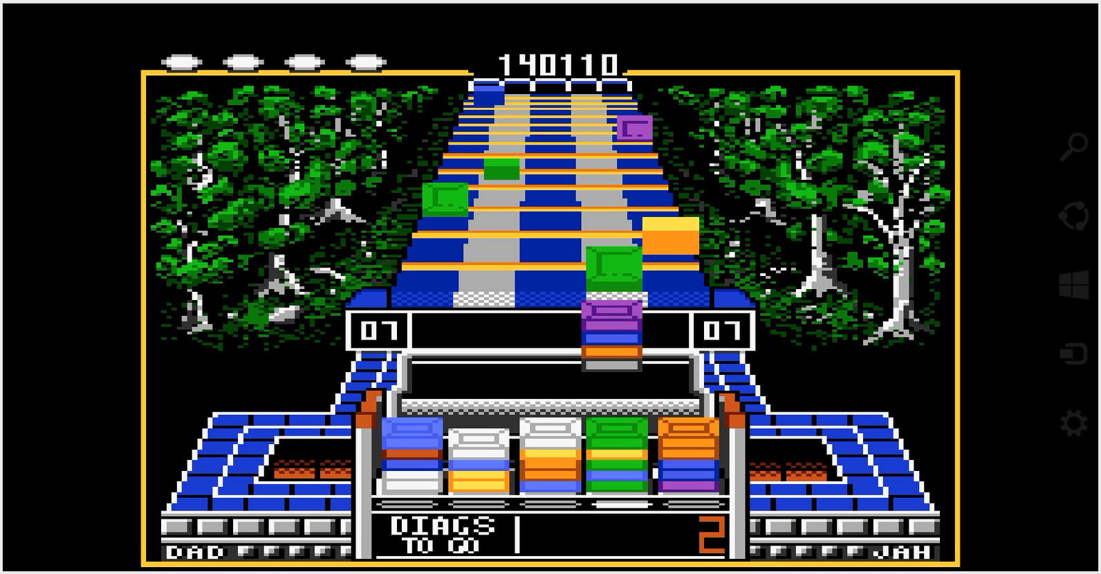 Klax: Easy [Level 06 Start] 140,110 points