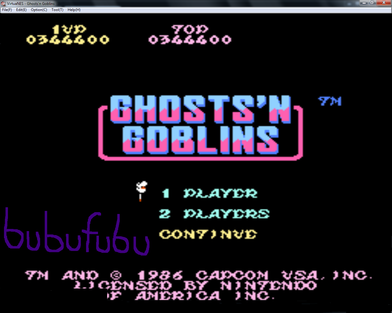 bubufubu: Ghosts N Goblins (NES/Famicom Emulated) 344,400 points on 2015-01-17 16:07:02