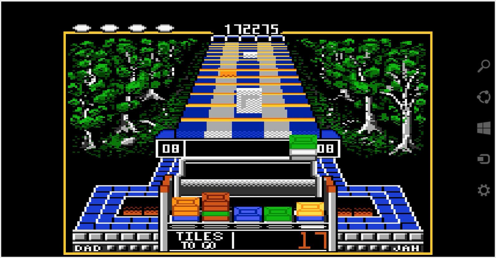 Scrabbler15: Klax: Normal [Level 06 Start] (Atari 7800 Emulated) 172,275 points on 2015-01-17 16:49:08