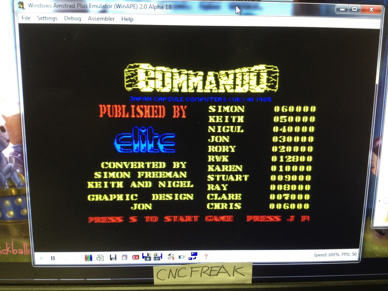 Commando 12,800 points
