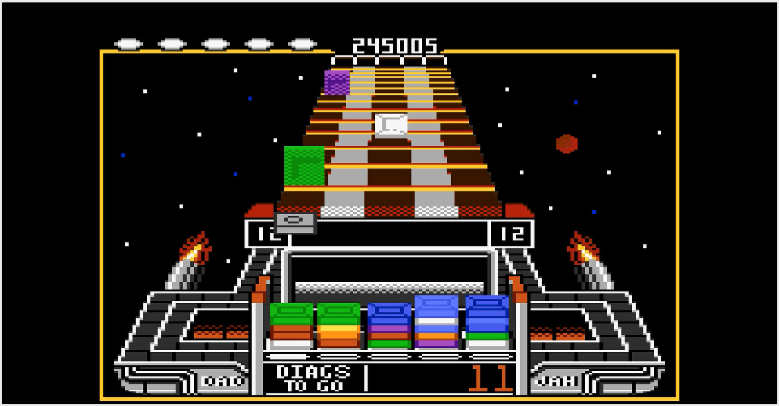 Scrabbler15: Klax: Easy [Level 11 Start] (Atari 7800 Emulated) 245,005 points on 2015-01-17 20:54:31