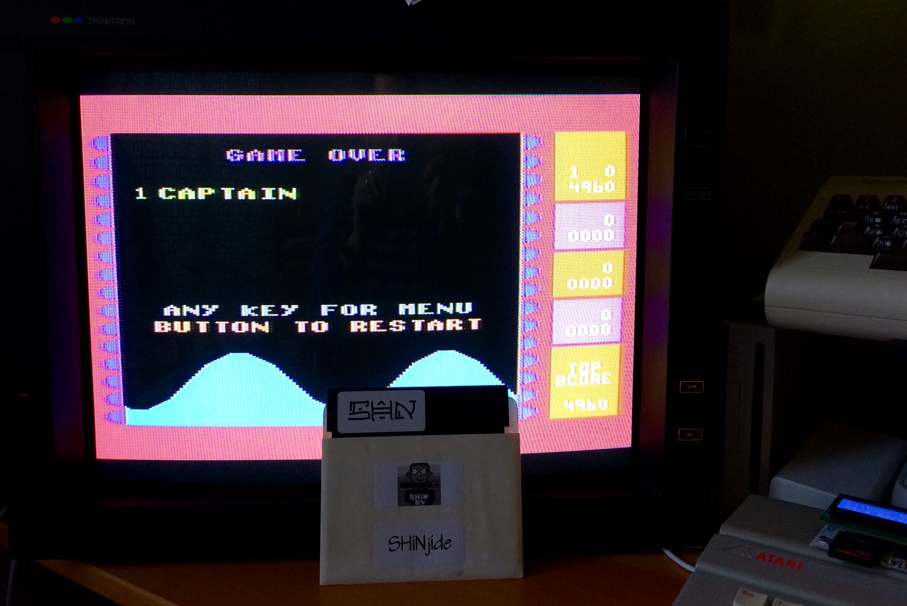 SHiNjide: Wavy Navy (Atari 400/800/XL/XE) 4,960 points on 2015-01-18 06:09:01