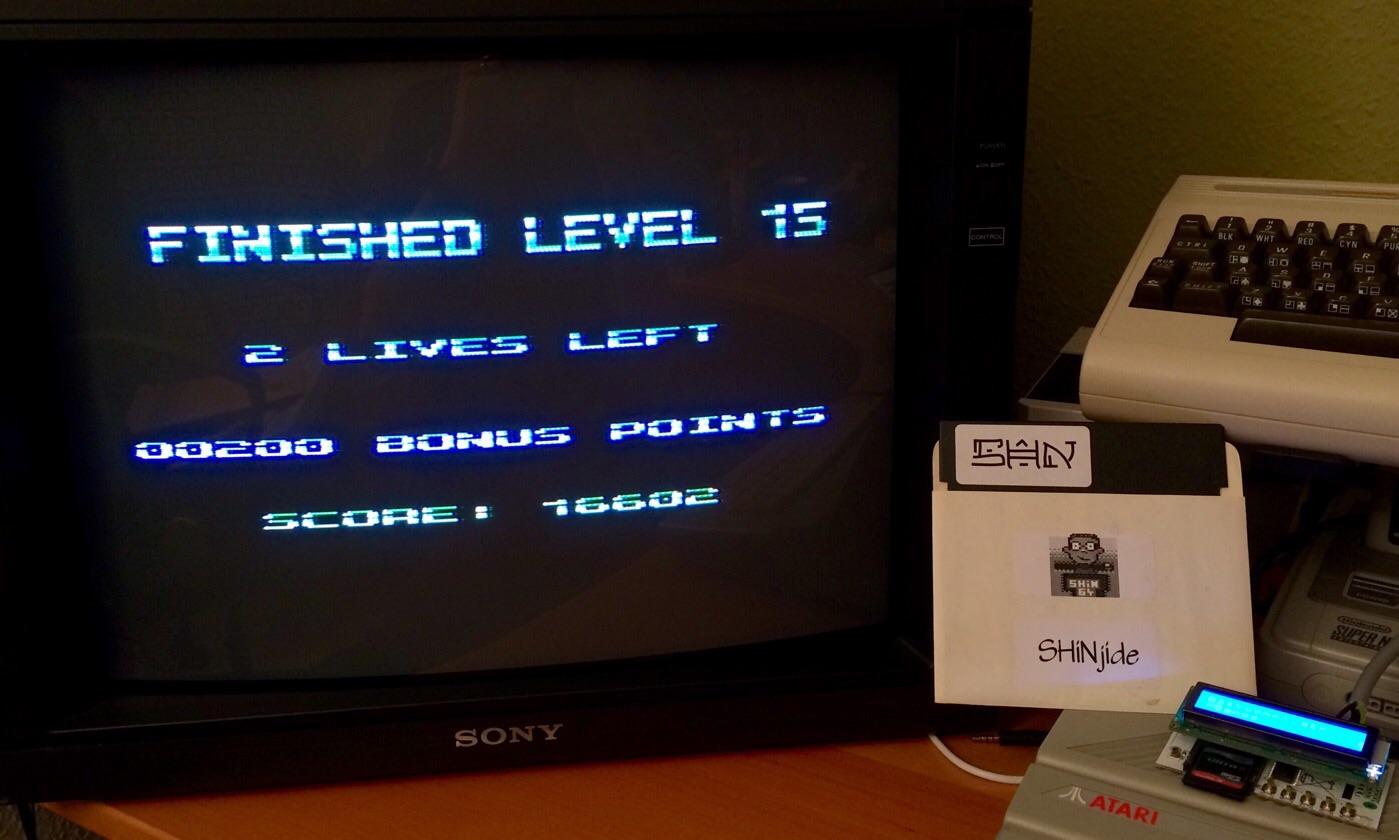 SHiNjide: Yoomp!: Level 1 Start (Atari 400/800/XL/XE) 16,602 points on 2015-01-18 11:08:46