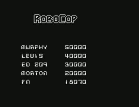 mechafatnick: RoboCop (ZX Spectrum Emulated) 18,070 points on 2015-01-19 00:03:47