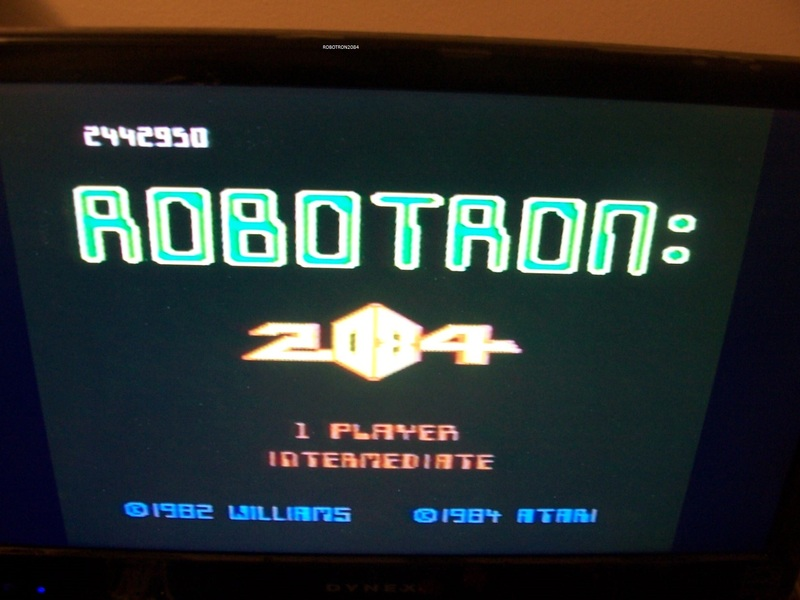Robotron 2084: Intermediate 2,442,950 points
