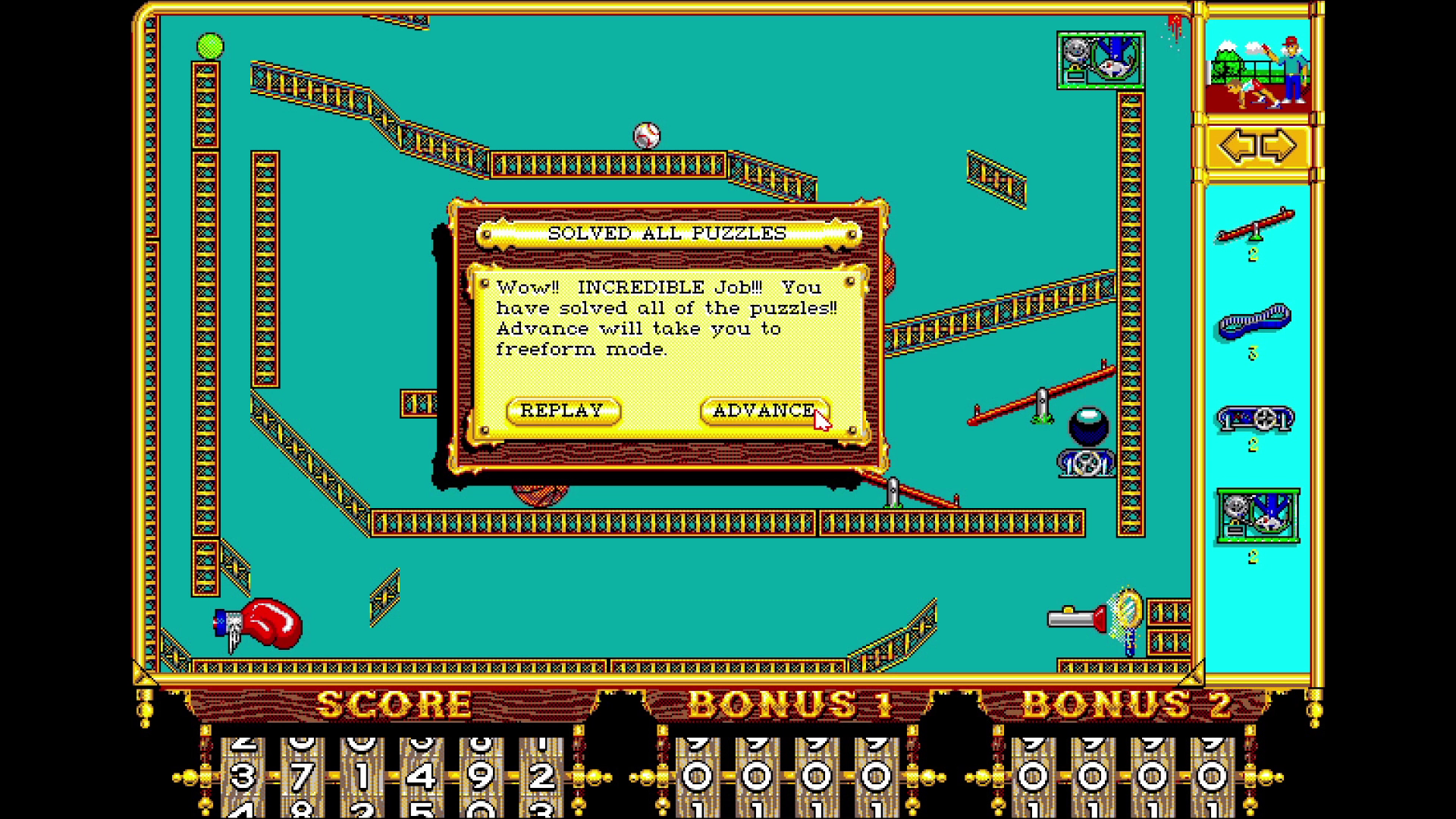 Bartjaah: The Incredible Machine (PC Emulated / DOSBox) 371,492 points on 2015-01-20 13:51:28
