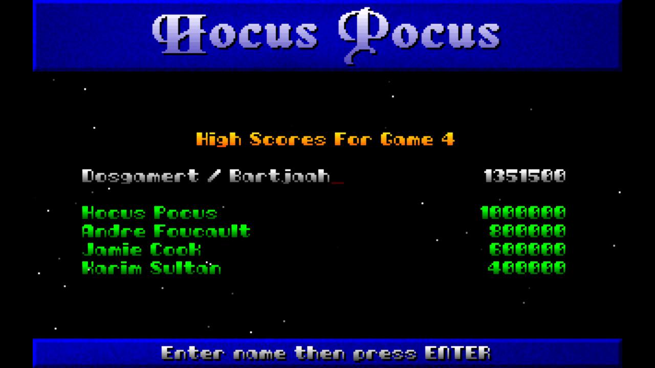 Bartjaah: Hocus Pocus: Episode 4: Destination Home (PC) 1,351,500 points on 2015-01-20 17:08:20