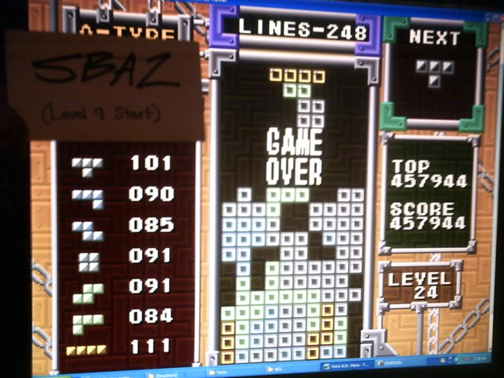 Tetris: Points 457,944 points
