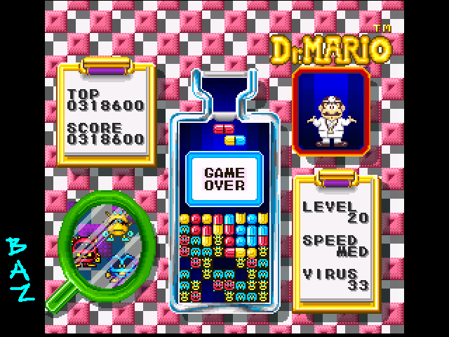 Dr. Mario 318,600 points
